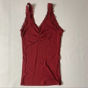 Hollister burgundy basic tank